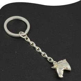 Schlüsselanhänger • Pferdekopf  • Silber • Spaltring • Schlüsselring
