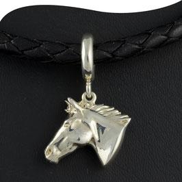 Anhänger • Pferdekopf • Silber • mit Ringöse • L