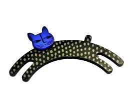 Brosche Katze, Plexiglas, Anstecker