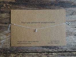 """Bracelet-message """"Pour une personne exceptionnelle"""""""