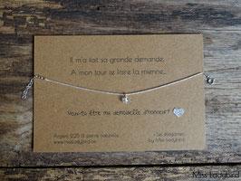 """Bracelet-message """"Demoiselle d'honneur"""""""