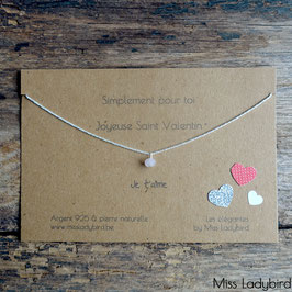 "Bracelet-message ""Joyeuse St Valentin"""