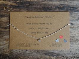 """Bracelet-message """"Veux-tu être mon témoin"""""""