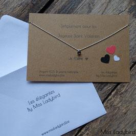 "Collier-messager ""Joyeuse Saint-Valentin"""