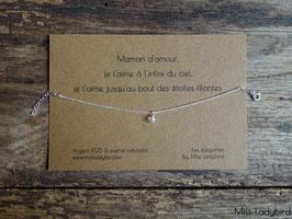 """Bracelet-message """"Maman d'amour"""""""