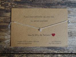 """Bracelet-message """"Veux-tu être ma Marraine"""""""