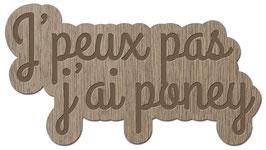 J'PEUX PAS J'AI PONEY LES PETITS MOTS