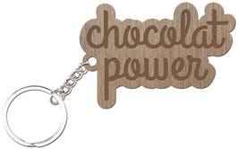 CHOCOLAT POWER LES PETITS MOTS PORTE CLÉS
