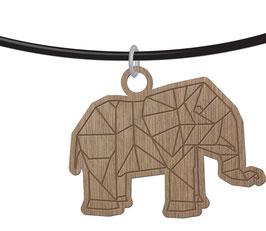 ELEPHANT ORIGAMI COLLIER