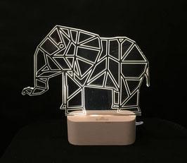 ELEPHANT LAMPE D'AMBIANCE BASE BOIS HELIOS LED