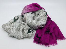 Schal beige-pink
