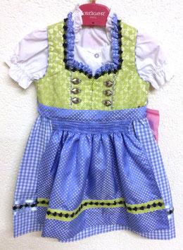 Kinderdirndl hellgrün/hellblau