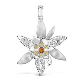 Edelweiss-Clip mit Swarovski-Kristallen