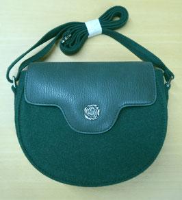 Handtasche Loden dunkelgrün
