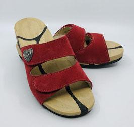Damenpantolette rot, Grösse 37