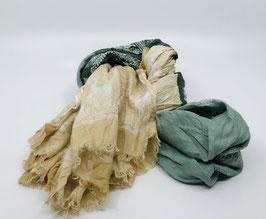 Schal grün-gelb