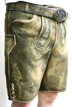 Lederhose kurz, altbraun antik