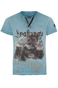 """T-Shirt türkis-blau """"Traktor"""""""