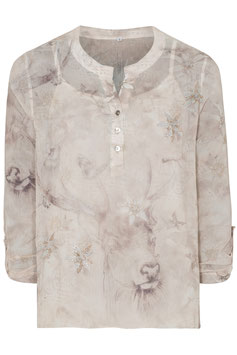 Damenbluse beige, 2-in-1