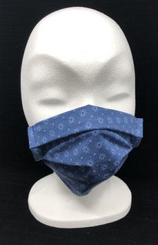 Wiederverwendbare Stoffmaske für Jugendliche / Erwachsene dunklblau mit Sternen