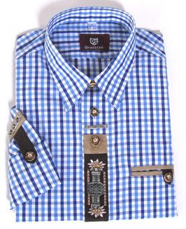 Trachtenhemd blau kariert