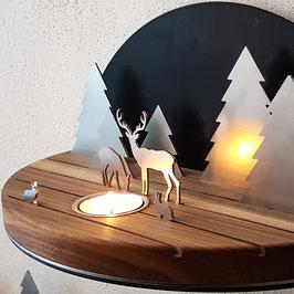Silhouette M Winterlandschaft / Waldlandschaft