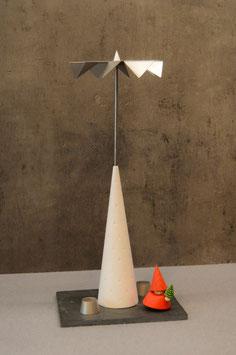 Kleines Komplettset P5 weiß mit kleinem Schiefer und eingelassenen Kerzenhaltern