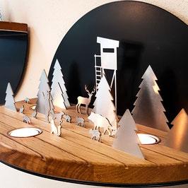 Silhouette L Winterlandschaft