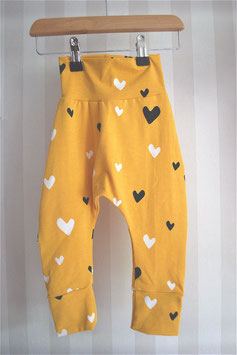Bio-Baggy pants (slim fit) Paapii hearts - LAGERPRODUKT