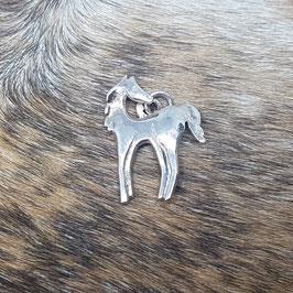 Zilveren Paard bedel / hanger