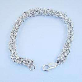 Zilveren Koningschakel Armband