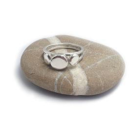 Zilveren ring Pebble ring met drie Pebbles / Kiezels