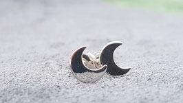 Zilveren Maan oorbellen / oorstekers