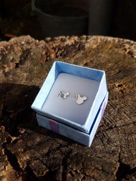Zilveren Mickey Mouse oorbellen / oorstekers