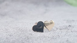 Zilveren Hartjes oorbellen / oorstekers