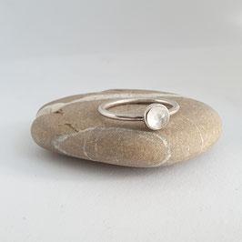 Zilveren Stapelring met Edelsteen Maansteen