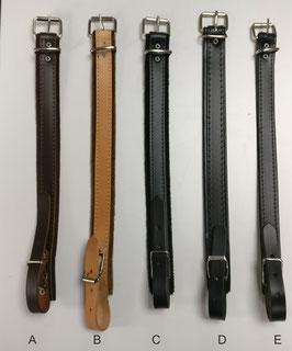 Verlängerung für Leder-Trageriemen, Breite 24 mm, schwarz
