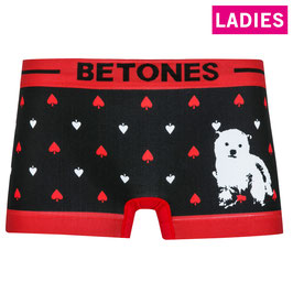 BETONES : [LADIES] ANIMAL4 Col.BLACK(シロクマ)