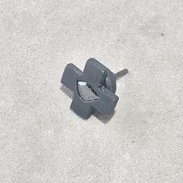PARTS OF FOUR : Plus Earring  (0.1-0.2 CT, Single S-Stone, 12mm, KA+DIA)