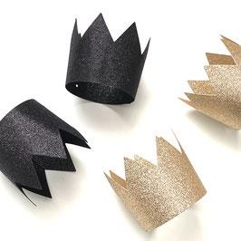 Krone in schwarz & gold