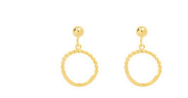 tiny bead hoops gold