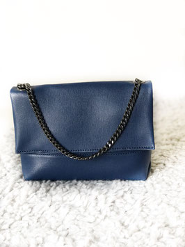 Perfect leather bag blue