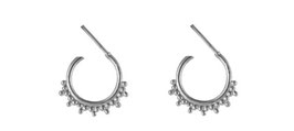 Bohemian hoops silver