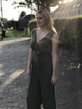 Army plisse jumpsuit