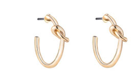 Knotted hoops gold