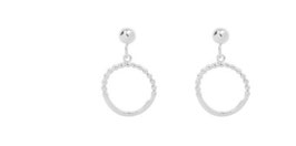 tiny bead hoops silver