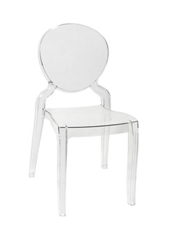 Silla LOUIS ARMS (Inspiración silla Louis Ghost de Philippe Starck)