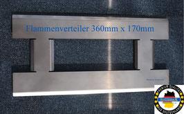 360 mm x 170 mm Edelstahl Flammenverteiler