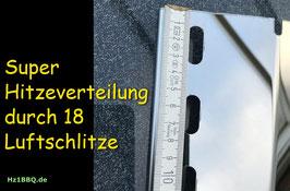 390 mm x 140 mm V4A Edelstahl Spiegel poliert Flammenverteiler