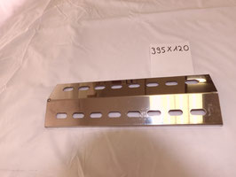 395 mm x 120 mm V4A Spiegel poliert Edelstahl Flammenverteiler